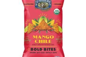 MANGO CHILE BOLD BITES ORGANIC BITE-SIZED TORTILLA CHIPS