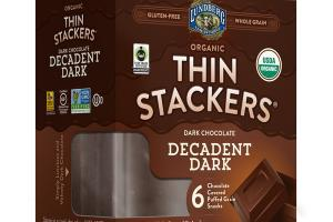 DARK CHOCOLATE DECADENT COVERED PUFFED GRAIN SNACKS