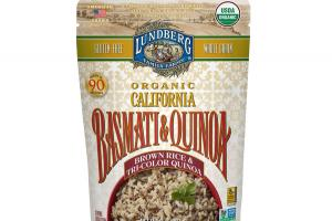 ORGANIC CALIFORNIA BROWN RICE & TRI-COLOR QUINOA