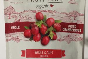 Organic Whole & Soft Sweetened Dried Cranberries