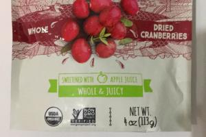 Organic Whole Dried Cranberries