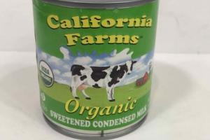 ORGANIC SWEETENED CONDENSED MILK