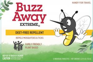 Deet-free Repellent Repels Mosquitoes & Ticks Towelettes
