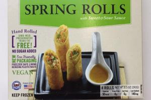Thai Style Spring Rolls With Sweet & Sour Sauce