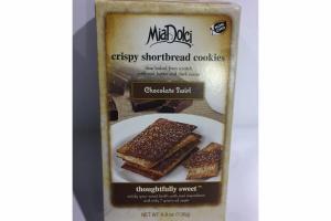 CHOCOLATE SWIRL CRISPY SHORTBREAD COOKIES