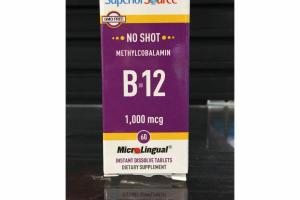 METHYLCOBALAMIN B-12 1,000 MCG INSTANT DISSOLVE TABLETS DIETARY SUPPLEMENT