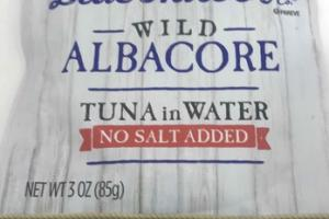 WILD ALBACORE NO SALT ADDED TUNA IN WATER