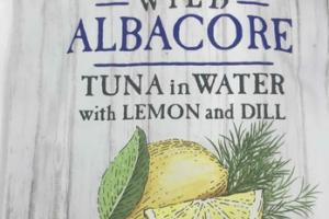 WILD ALBACORE TUNA IN WATER WITH LEMON AND DILL
