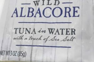 WILD ALBACORE TUNA IN WATER WITH A TOUCH OF SEA SALT