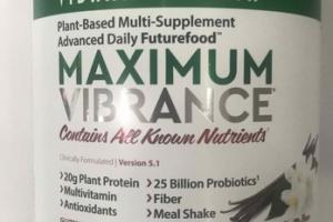 MAXIMUM VIBRANCE PLANT-BASED MULTI-SUPPLEMENT ADVANCED DAILY FUTUREFOOD DIETARY SUPPLEMENT, VANILLA BEAN