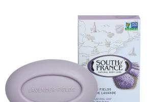 FRENCH MILLED OVAL SOAP WITH ORGANIC SHEA BUTTER, LAVENDER FIELDS