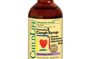 HOMEOPATHIC FORMULA 3 COUGH SYRUP WITH UMCKA ELDERBERRY WILD CHERRY BARK, NATURAL BERRY