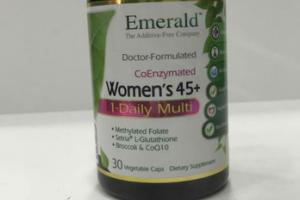 COENZYMATED WOMEN'S 45+ DIETARY SUPPLEMENT VEGETABLE CAPS