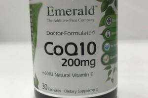 DOCTOR-FORMULATED COQ10 200MG +60 IU NATURAL VITAMIN E DIETARY SUPPLEMENT CAPSULES