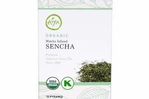 ORGANIC MATCHA INFUSED SENCHA PREMIUM JAPANESE GREEN TEA PYRAMID TEA BAGS