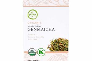ORGANIC MATCHA INFUSED GENMAICHA PREMIUM JAPANESE GREEN TEA PYRAMID TEA BAGS