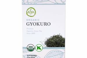ORGANIC GYOKURO PREMIUM JAPANESE GREEN TEA PYRAMID TEA BAGS