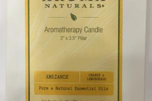 Pure & Natural Essential Oils Aromatherapy Candle, Orange & Lemongrass
