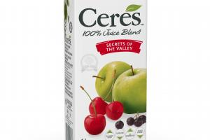 100% APPLE, CHERRY, BLACKCURRANT & OTHER FRUIT JUICE BLEND