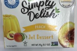 PEACH NATURAL JEL DESSERT