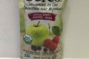 APPLE BERRY 100% PURE FRUIT SMOOTHIE TO GO