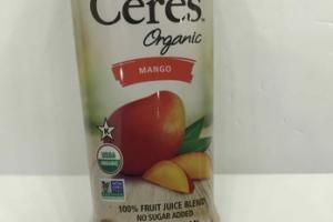 ORGANIC MANGO 100% FRUIT JUICE BLEND