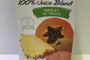 NO SUGAR ADDED MEDLEY OF FRUITS 100% JUICE BLEND