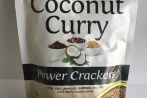 ORGANIC COCONUT CURRY POWER CRACKERS