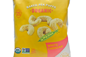 ORGANIC WHITE CHEDDAR BAKED PEA PUFFS