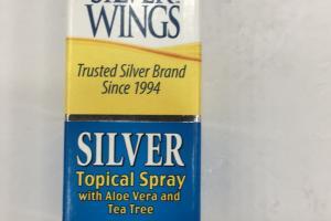 Silver Topical Spray With Aloe Vera And Tea Tree