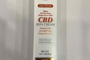 DEEP RELIEF 300MG FULL-SPECTRUM HEMP EXTRACT WITH CBD SKIN CREAM