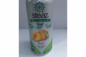 PEACH FLAVORED LIGHTLY SWEETENED ICED GREEN TEA