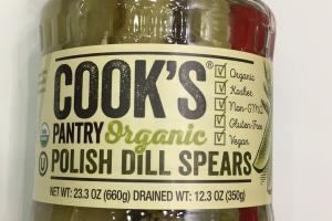 Organic Pantry Polish Dill Spears