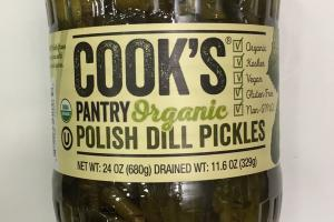 Organic Polish Dill Pickles