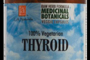 100% VEGETARIAN THYROID DIETARY SUPPLEMENT VEGGIE CAPSULES
