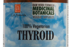 100% VEGETARIAN THYROID DIETARY SUPPLEMENT VEGGIE CAPSULES