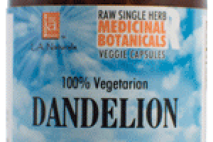 100% VEGETARIAN DANDELION DIETARY SUPPLEMENT VEGGIE CAPSULES