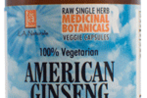 100% VEGETARIAN AMERICAN GINSENG DIETARY SUPPLEMENT VEGGIE CAPSULES