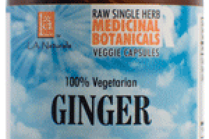 100% VEGETARIAN GINGER DIETARY SUPPLEMENT VEGGIE CAPS