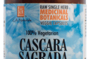 100% VEGETARIAN CASCARA SAGRADA DIETARY SUPPLEMENT VEGGIE CAPSULES