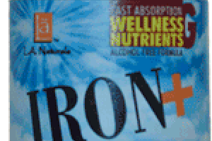 IRON+ WITH YELLOW DOCK ROOT DIETARY SUPPLEMENT, NATURAL BLACKBERRY AND VANILLA