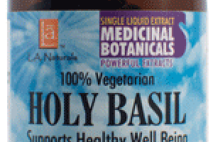 100% VEGETARIAN HOLY BASIL DIETARY SUPPLEMENT LIQUID VEGGIE CAPS