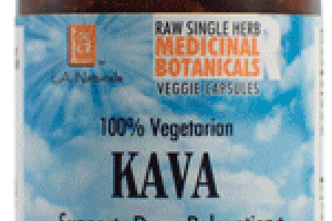 100% VEGETARIAN KAVA SUPPORTS DEEP RELAXATION DIETARY SUPPLEMENT VEGGIE CAPSULES