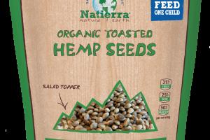 Plant-based Organic Toasted Hemp Seeds