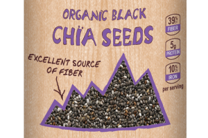 Plant-based Organic Black Chia Seeds