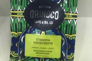 MEDIUM ROAST ETHIOPIA YIRGACHEFFE WHOLE BEAN COFFEE