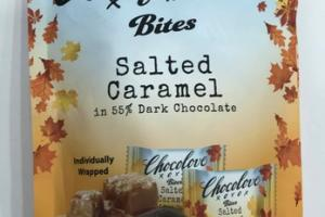SALTED CARAMEL IN 55% DARK CHOCOLATE BITES