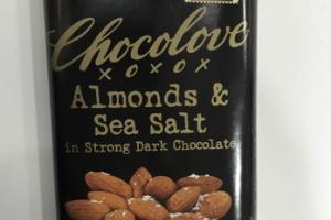 ALMONDS & SEA SALT IN STRONG DARK CHOCOLATE
