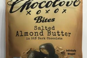SALTED ALMOND BUTTER DARK CHOCOLATE BITES