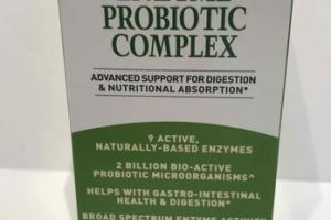 DIGESTIVE HEATLH DUAL-ACTION ENZYME PROBIOTIC COMPLEX DIETARY SUPPLEMENT VEGETARIAN CAPSULES